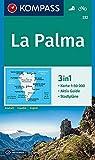KOMPASS Wanderkarte La Palma: 3in1 Wanderkarte 1:50000 mit Aktiv Guide und Stadtplänen. Fahrradfahren (KOMPASS-Wanderkarten, Band 232)