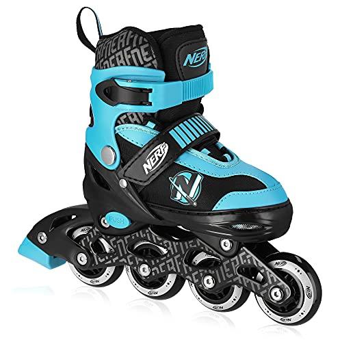 Spokey Strive Inline Skates für Kinder bis max. Gewicht 60 kg| Größenverstellbar, Alu-Schienen, Kugellager ABEC-7 Carbon, PU Rolle 82 A | Rollengröße: Ø 64 mm bei Gr. 28-32 und Ø 70 mm bei Gr. 33-37