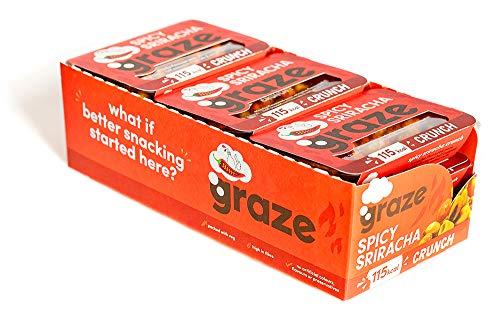 Graze Spicy Sriracha Crunch - Vegan Savoury Snack Punnet - 26g (Pack of 9)