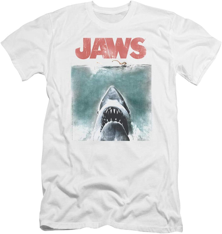 Jaws  Mens Vintage Poster Premium Slim Fit TShirt