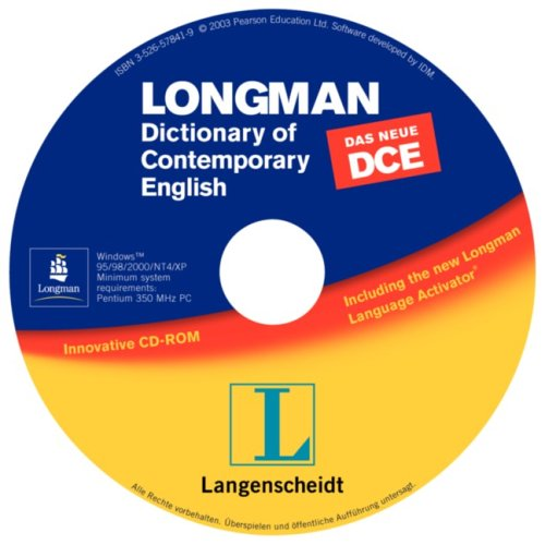Longman Dictionary of Contemporary English (DCE), 1 CD-ROMFür Windows ab 95/98/NT oder MacOS