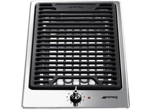 SMEG PGF30B Classica Grill électrique, INOX, Noir/Acier Inoxydable