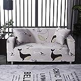 Langlebige Gedruckte Sofa Slipcover,elastisches Kufen-Proof Staub-Proof Sofa Cover Easy Install Möbel Abdeckung Wohnzimmer Haustier Kinder Möbel Schutzabdeckung-1 DREI Leute