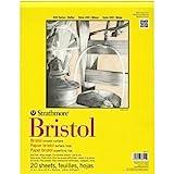 Pro-Art Strathmore Bloc de Papier Bristol Lisse 27,9cm x 35,6cm, 20Feuilles