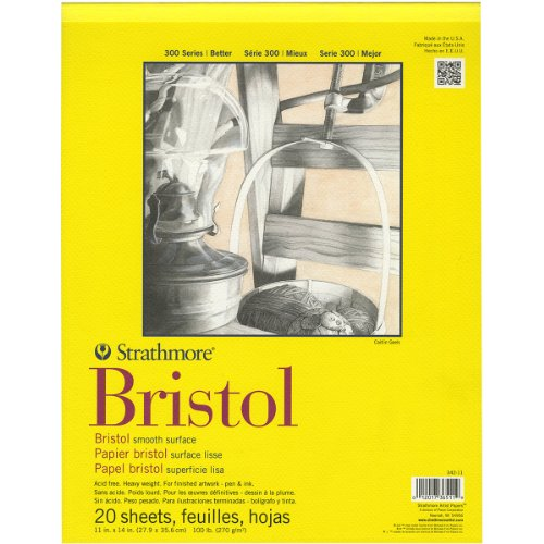 Strathmore Bristol Smooth 300 Series - 100lb 270gsm