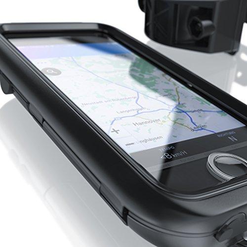 CSL - Fahrradhalterung kompatibel für Apple iPhone 8 - Fahrrad Case Tasche spritzwasserdichte - Handy Smartphone-Halterung - optimal geeignet für Bike Navigation