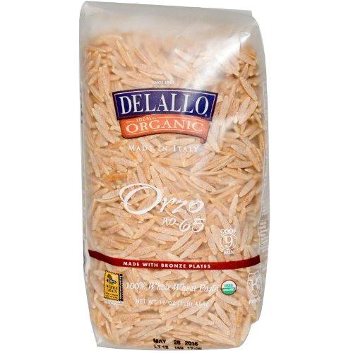 DeLallo, Orzo No. 65, 100% Whole Wheat Pasta, 16 oz (454 g)