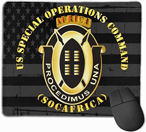 US Special Operations Command Afrika Socafrica Mauspads rutschfeste Gaming-Mausunterlage Mousepad
