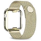 Estuche + correa Para Apple Watch band 40 mm 44 mm 38 mm 42 mm Estuche plateado + Cinturón de metal Pulsera milanesa para Apple Watch serie 6 se 5 4 3