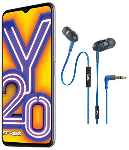 Vivo Y20i (Dawn White, 3GB RAM, 64GB ROM) with Boat Wired Earphones