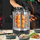 GOTOTOP - Barbacoa de mesa eléctrica vertical para barbacoas de acero inoxidable, barbacoa eléctrica vertical de mesa, grill vertical Pollo Kebab (220 V)