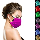 Ruixin Led Mask Light up Mask Glowing Mask USB Rechargeable Face Mask 7 Colors Luminous mask Party mask