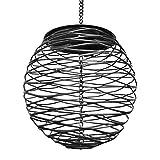 XIAOQI Alimentador de pájaros colgante de semillas de pájaros, jaula de alimentación de metal para jardín de pájaros silvestres