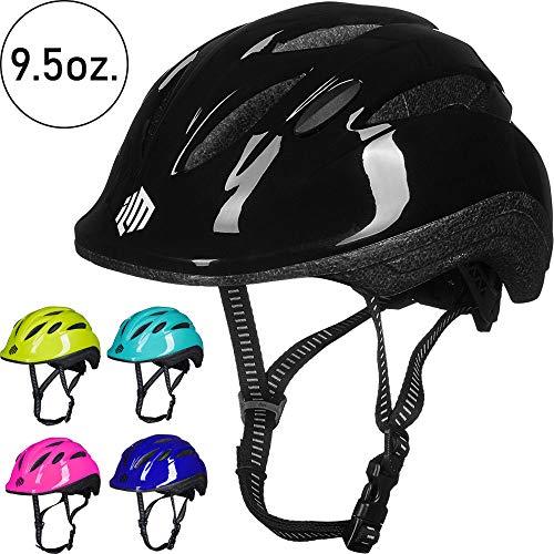 ILM Kids Toddler Bike Bicycle Helmet Girls Boys Youth (Black Small/Medium)