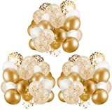 APERIL Globos Dorados Confeti Globos de Fiesta,Globos de Cumpleaños, Helio para Globos, Globos Boda,Soltera Fiesta de Despedida de Soltera Fiesta de Cumpleaños