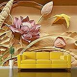 3D estéreo de textura profunda tallados en madera TV Fondo pared Fresco 3D Mural papel tapiz para sala de estar pap Pared Pintado Papel tapiz 3D Decoración dormitorio Fotomural sala mural-350cm×256cm