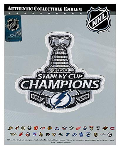 National Emblem 2020 NHL Stanley Cup Champions Tampa Bay Lightning Commemorative Patch