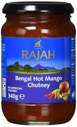 Rajah Bengal Mango Chutney, scharf, 2er Pack (2 x 340 g)