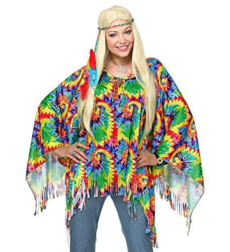 Widmann 10131213 Erwachsenenkostüm psychedelic Hippie, Mädchen, Mehrfarbig