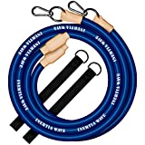 INERTIA WAVE - Battle Rope - Cuerda de Batalla con Anclaje y Agarres de Goma Antideslizantes - 3m y 1,4kg - Optimiza Tus Entrenamientos Combinando Fuerza, Resistencia y Coordinación - Azul