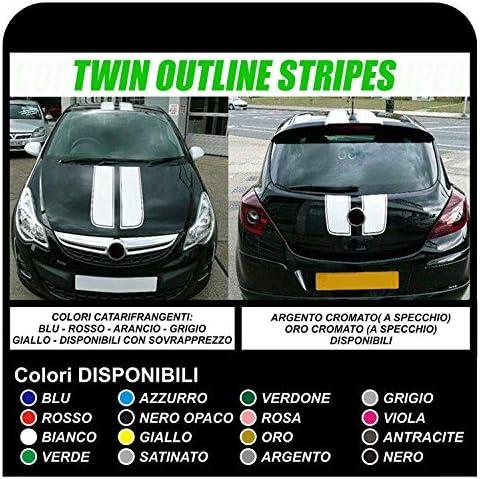 Aufkleber Für Autos Motorhaube Und Dach Grafik Klebebänder Schwarz Auto