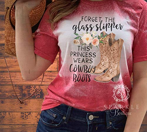 Cowgirl Shirt Bleached and Distressed Shirt