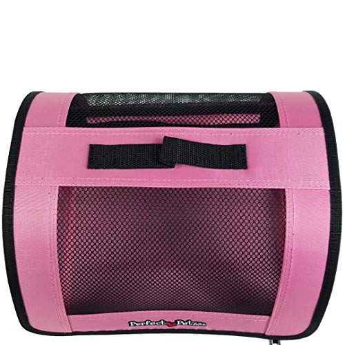 Perfect Petzzz Sturdy Pink Nylon and Mesh Zippered Tote For Carrying Your Plush Toy Pet