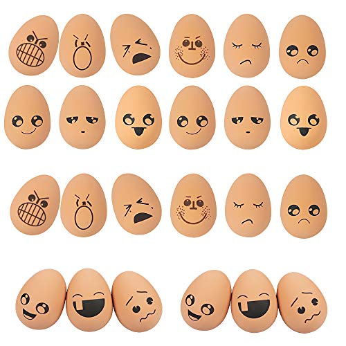 24 Piezas Juguete Huevo Perro Mascota, ZoneYan Juguete Huevos Goma Niños, Juguete Huevo Simulación, Juguete Huevo Fiesta Pascua, Juguete Huevo No Tóxico, Juguete Masticar para Perro