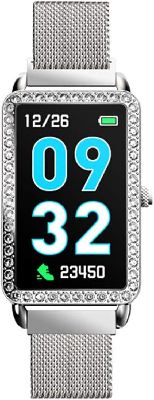 RHBKW Fitness Tracker Herzfrequenz für Frauen Activity Tracker mit IP67 wasserdicht Tippen Sie auf Stoppuhr-Schrittzhleruhr Sportuhr Smartwatch für iPhone iOS Laufen,Silber