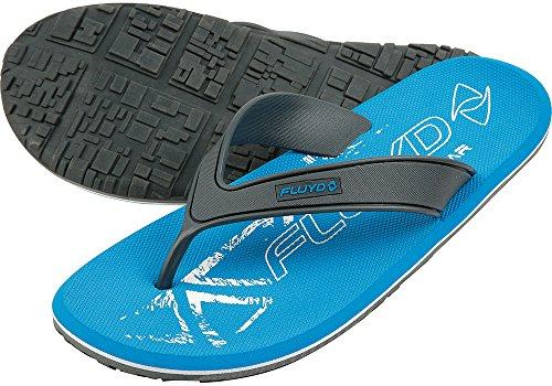 Fluyd Tongs - Escarpines de Surf, Color Azul, Talla 40