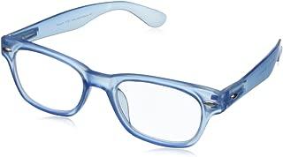 Peepers by PeeperSpecs Wayfarer Peepers Rainbow Bright Retro Reading Glasses,Blue,1.5, 45 mm