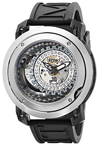 Ritmo Mundo Men's 202 SS BLK Persepolis Dual-Time Exhibition Automatic Watch