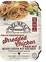 Del Real Foods Shredded Chicken Taco Kit, 19.4 Ounce