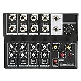 NXYJD Mezclador de Audio portátil de 8 Canales Estéreo Stereo Micrófono Micrófono Amplificador Consola DJ
