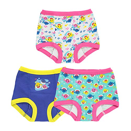 Baby Shark Girls' Toddler, 7pk Potty Training Pant, 2T