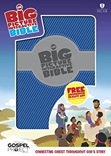 HCSB Big Picture Interactive Bible, Blue/Silver LeatherTouch (The Big Picture Interactive / The Gospel Project)
