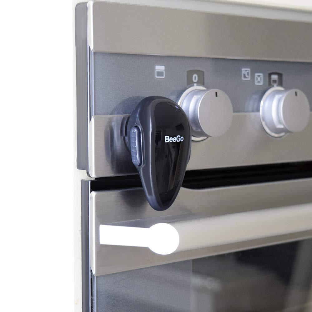 BeeGo Oven Safety Child Lock, Protect Babies & Toddlers, Easy Install (1 x Lock) - Black
