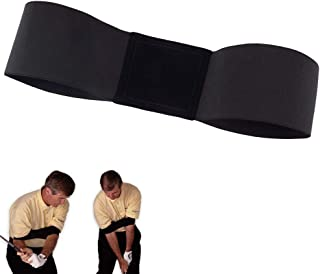 Podinor Golf Swing Training Aid Arm Band Posture Motion Correction Practicing Guide Belt for Golf Beginner (Black)