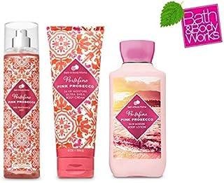 Bath and Body Works Portofino Pink Prosecco Gift Set - Fine Fragrance Mist - Body lotion and Body Cream - Full Size