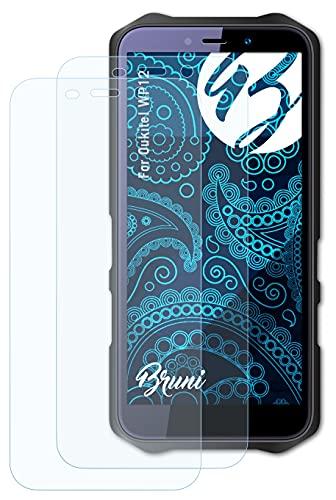 Bruni Schutzfolie kompatibel mit Oukitel WP12 Folie, glasklare Bildschirmschutzfolie (2X)