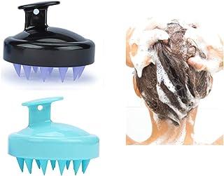 Hair-Shampoo-Brush-Scalp-Massager, 2 Pack [Wet & Dry] Scalp Brush Shower Scrubber Head Care Exfoliator with Soft Silicone Bristles for Women Men & Kids