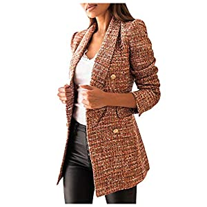 ROUNYY Damen Mode Mantel Anzug Jacke Langarm Solid Turn-Down Kragen Knopf Blazer Outwear Anzug Tops