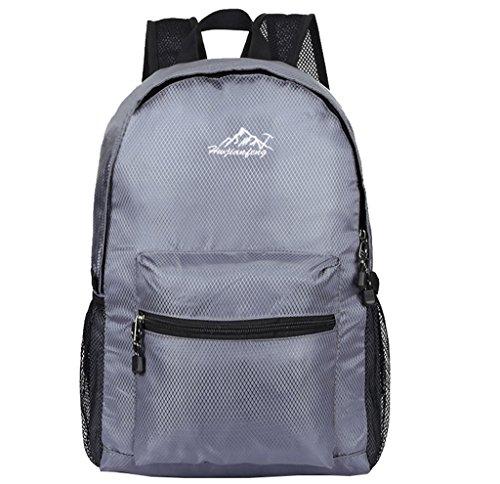Super Modern Sac à dos de sport unisexe en nylon - Sac d'école pliable - Sac à dos de randonnée - Sac à dos cool et léger pour ordinateur portable - Sac