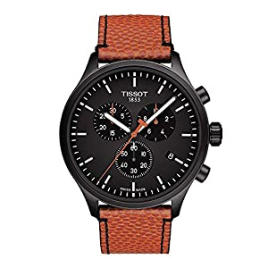 Tissot Men's NBA Special Edition Stainless Steel Quartz Sport Watch with Spalding Leather Strap, Orange  (Model: T1166173605112)