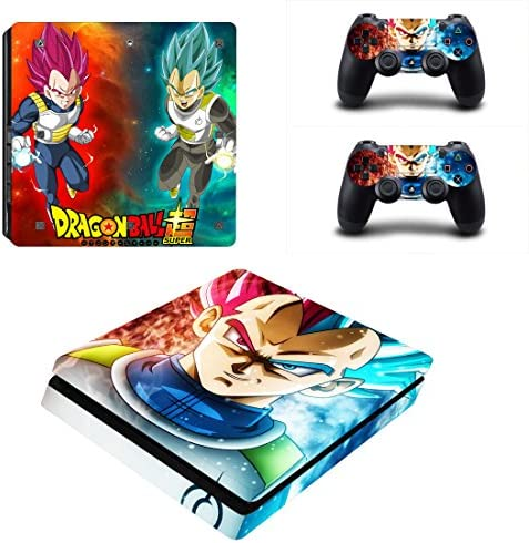 Vanknight PS4 Slim Console Dualshock Controllers Skin Set Vinyl Decal Sticker for Playstation product image