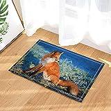 Tierentwurf des Fuchses 3D Duschvorhang-Schlafzimmer-wasserdichtes Gewebe u. 12hooks 71 * 71in