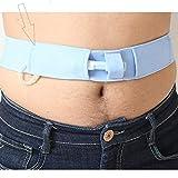 HMHM Dispositivo di Fissaggio del catetere Cintura per dialisi Addominale, Cintura Regolabile Forniture peritoneali, Fascia per Tubo di drenaggio peritoneale, Blu L 85cm-115cm