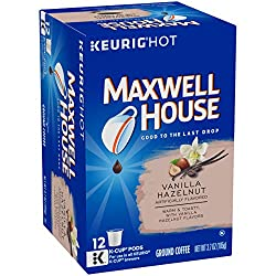 Maxwell House Vanilla Hazelnut Keurig K Cup Coffee Pods (12 Count)