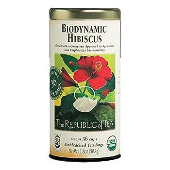 Republic Of Tea Tea Biodynamic Hibiscus Organic 36 Count