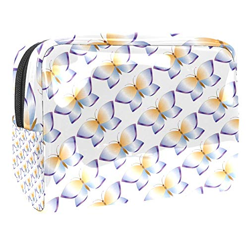 Purple Butterfly Travel Toiletry Bag, Premium Waterproof Travel Bag with Upgraded Zipper
